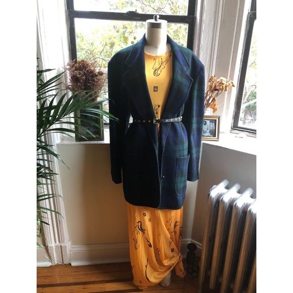 Vintage Jackets & Blazers - Vintage-WEISS-Plaid Blazer